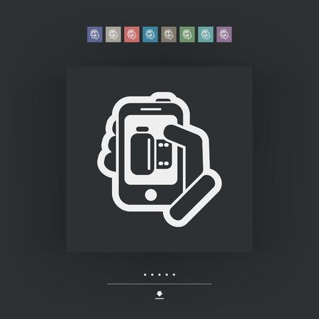 postproduction: Photo application icon Illustration