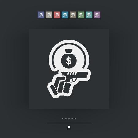 braqueur: Raider ic�ne Illustration