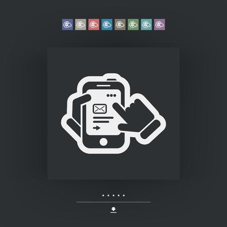 send: Smartphone icon. Send mail. Illustration