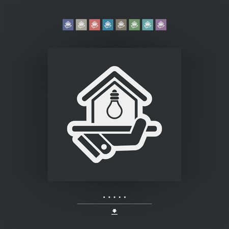 electricity supply: Electricity supply icon Illustration