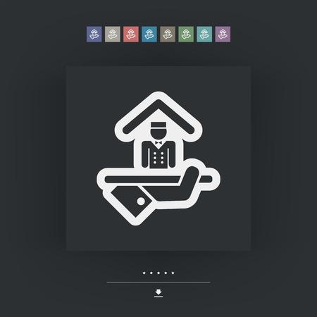 apartment bell: Hotel icon. Porter service. Illustration