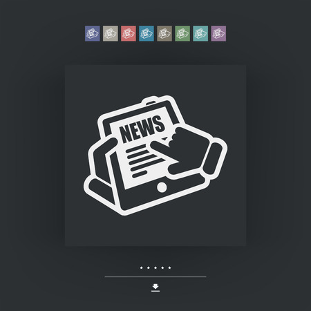 News tablet website Vector