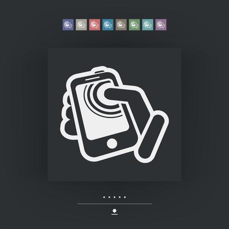 tabletpc: Smartphone touchscreen icon