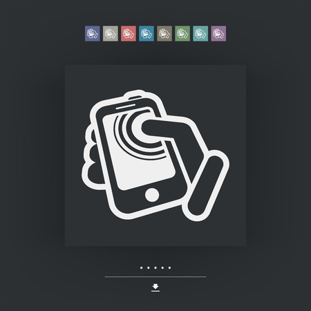 Smartphone touchscreen icon