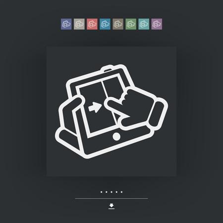 touchscreen: Touchscreen sliding icon