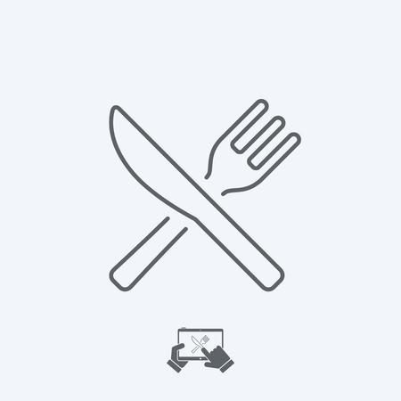 Restaurant icon - Thin serie Stock Illustratie