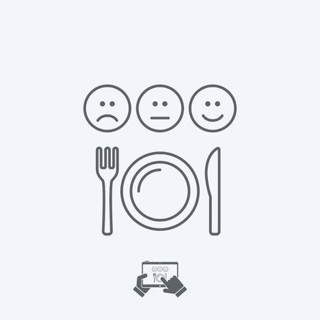 acceptable: Restaurant rating icon - Thin series Illustration