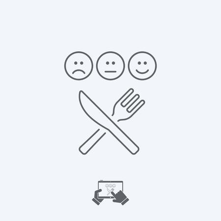 restaurant rating: Restaurant rating icon - Thin series Illustration