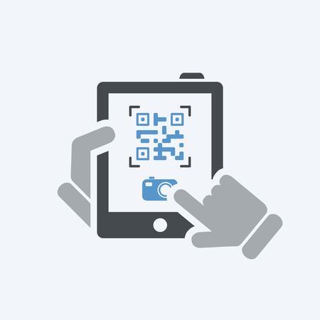 Photographing qr code Illustration