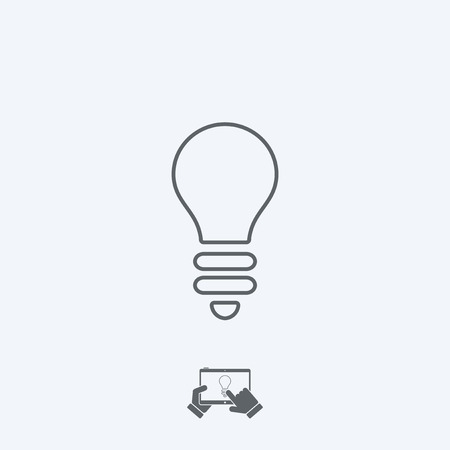 thin bulb: Light bulb icon - Thin series