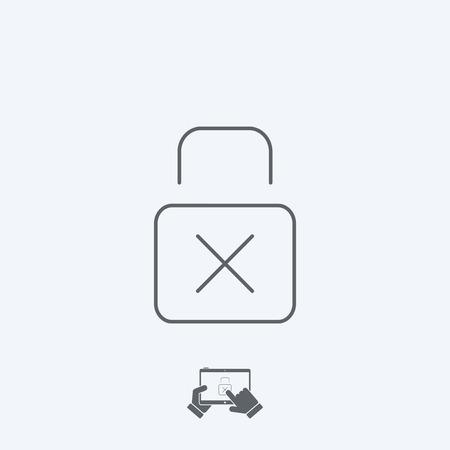 padlock icon: Padlock icon - Thin series