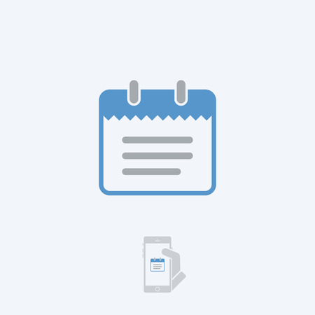 paperboard: Notepad icon Illustration