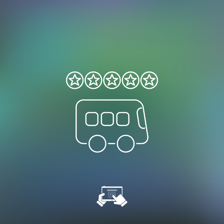 transport icons: Bus rating icon