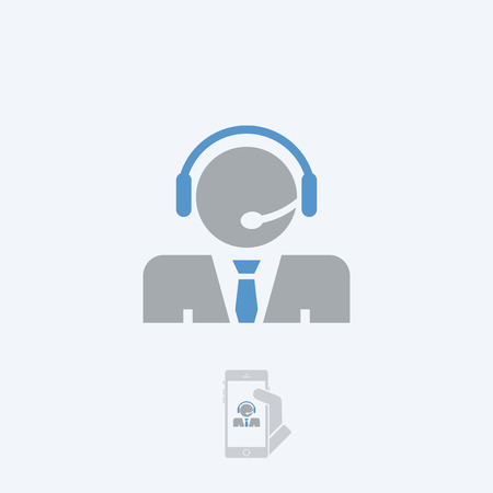 handsfree: Call center icon