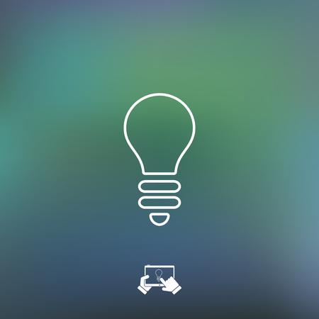 genial: Light bulb icon