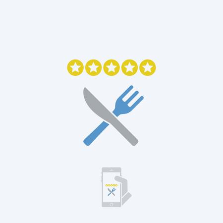 restaurant rating: Restaurant rating icon
