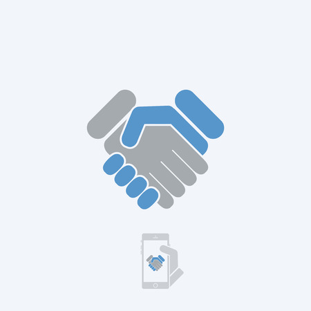 handshake icon: Handshake icon Illustration