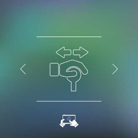 operating: Operating lever icon Illustration