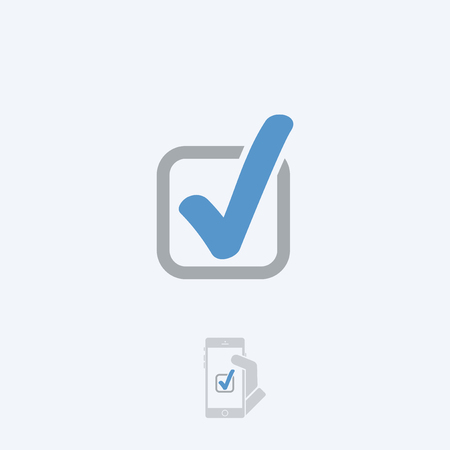 Approval icon Illustration