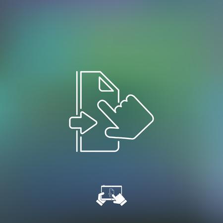 touchscreen: Touchscreen gesture - Thin series Illustration