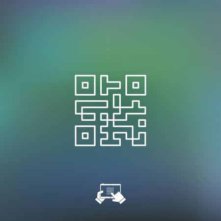 qrcode: Qr code icon Illustration
