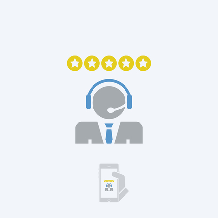 callcenter: Call center service Illustration