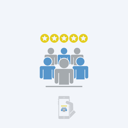 rating: Rating people icon Illustration