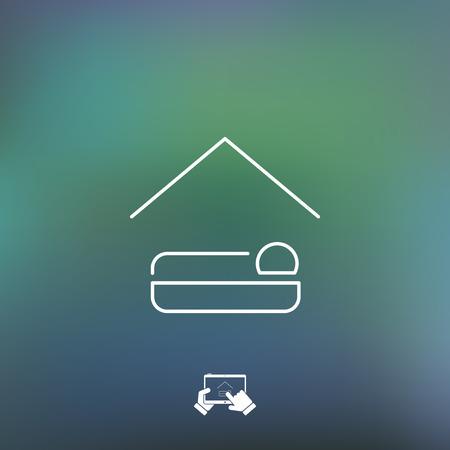 sleeping tablets: Hotel icon
