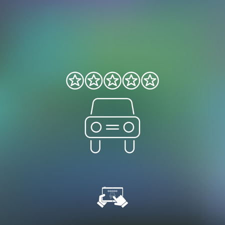 rating: Automotive rating icon Illustration