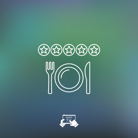 banqueting: Restaurant rating icon
