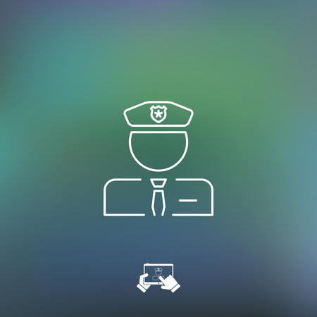 secret number: Policeman icon Illustration
