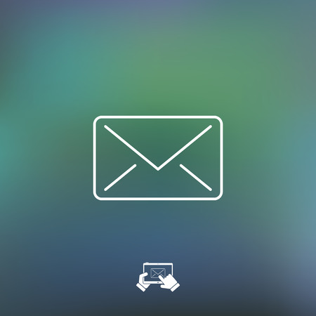 mail icon: Mail icon - Thin series