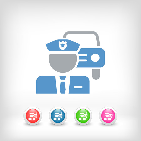 safety officer: Policeman icon Illustration