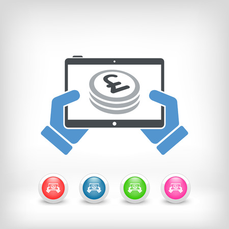 effusion: Financial application on tablet - Sterling Illustration