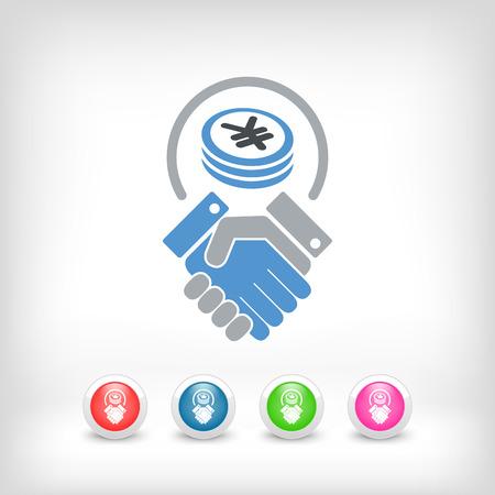 business agreement: Business agreement - Yen Illustration