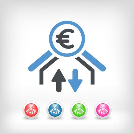 affair: Money transfer icon - Euro