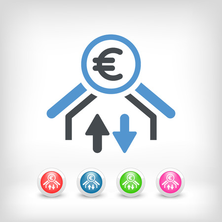 money transfer: Money transfer icon - Euro