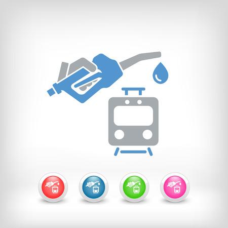 railcar: Train fuel icon