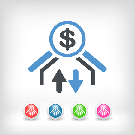 fx: Money transfer icon - Dollars