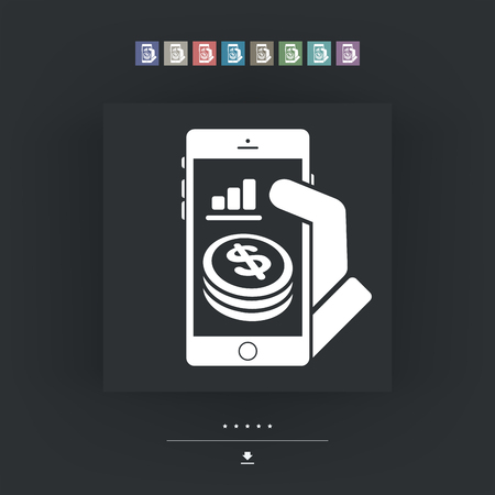 remuneraci�n: Aplicaci�n financiera en el tel�fono inteligente - D�lar Vectores