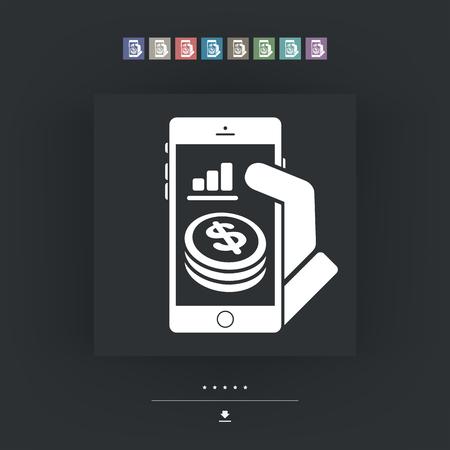 financial reward: Financial application on smartphone - Dollars