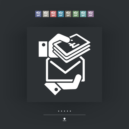 bribe: Bribe icon - Sterling Illustration