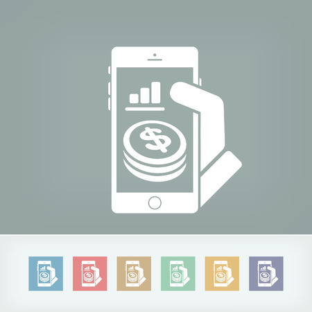 bank records: Financial application on smartphone - Dollars