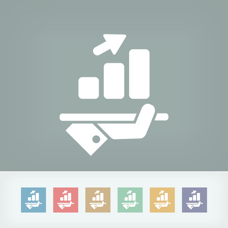 Financial increasing icon