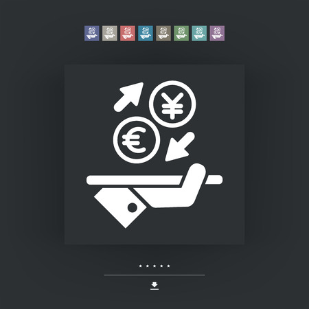 foreign currency: EuroYuan - Foreign currency exchange icon