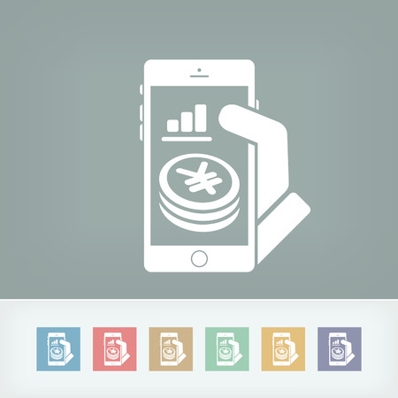 bank records: Financial application on smartphone - Yen