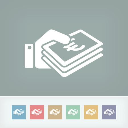 pay money: Money icon - Euro