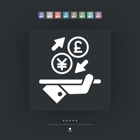 foreign currency: YuanSterling - Foreign currency exchange icon