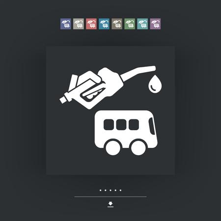 pullman: Bus fuel icon Illustration
