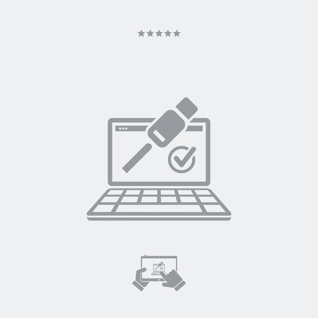 hd: Cable check icon, cable check vector, cable check symbol, cable check design, cable check app, cable check illustration, cable check button, cable check link. PART OF A SET, visit my portfolio. Illustration